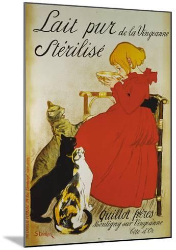 Lait pur sterilize-Th?ophile Alexandre Steinlen-Mounted Giclee Print