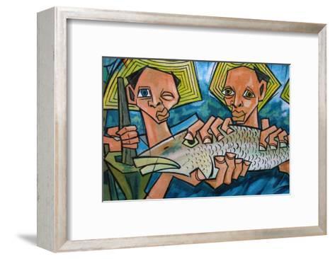Cubist Latin Fish-Charles Glover-Framed Art Print