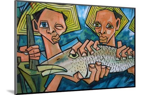 Cubist Latin Fish-Charles Glover-Mounted Giclee Print