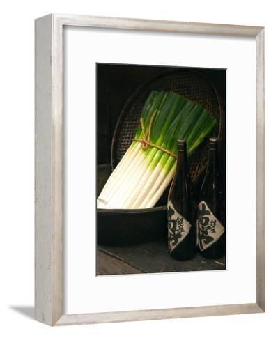 Sake and Leeks-Stephen Lebovits-Framed Art Print
