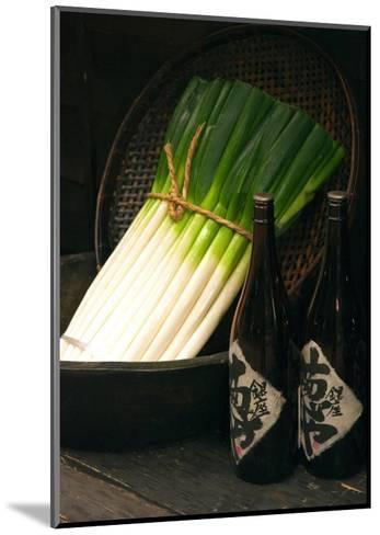 Sake and Leeks-Stephen Lebovits-Mounted Giclee Print