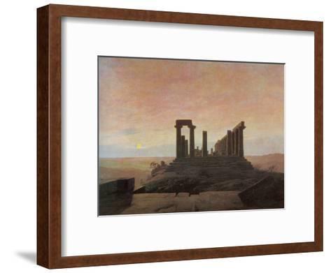 The Temple of Juno at Agrigento-Caspar David Friedrich-Framed Art Print