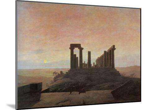 The Temple of Juno at Agrigento-Caspar David Friedrich-Mounted Giclee Print