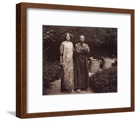 Gustav Klimt and Emilie in the Garden--Framed Art Print