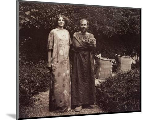 Gustav Klimt and Emilie in the Garden--Mounted Giclee Print