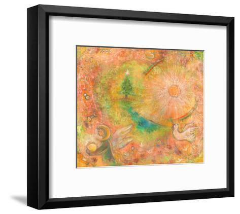Sounds in the Universe: Dove Tree, and Sun-Miyuki Hasekura-Framed Art Print