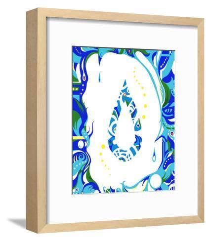 Color Melody: Color of June's Blue Rain and Lovely Drops of Water-Kyo Nakayama-Framed Art Print