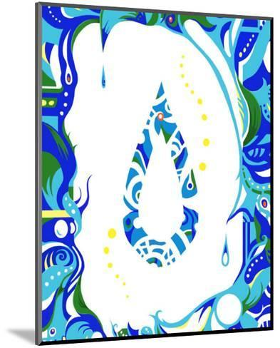 Color Melody: Color of June's Blue Rain and Lovely Drops of Water-Kyo Nakayama-Mounted Giclee Print