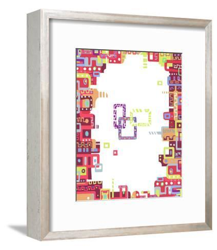 Color Melody: Lively Town, Lots of Conversations and Happiness-Kyo Nakayama-Framed Art Print