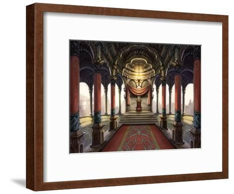 Inside the Castle of the Orient: The King Who Sits on the Throne-Kyo Nakayama-Framed Art Print