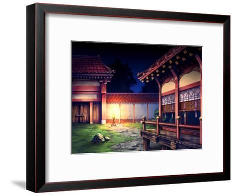 Heian Era Town of Japan-Kyo Nakayama-Framed Art Print