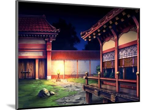 Heian Era Town of Japan-Kyo Nakayama-Mounted Giclee Print