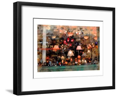 Lamp Store, Paris, France-Nicolas Hugo-Framed Art Print