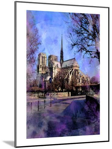 Notre-Dame, Paris, France-Nicolas Hugo-Mounted Giclee Print