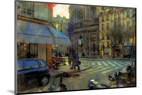 Paris at Dusk, France-Nicolas Hugo-Mounted Giclee Print