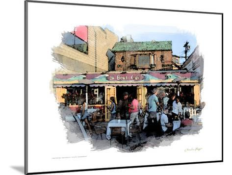 26 Beach Cafe, Venice Beach, California-Nicolas Hugo-Mounted Giclee Print