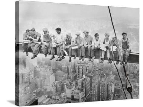 Lunch Atop a Skyscraper, c.1932-Charles C^ Ebbets-Stretched Canvas Print