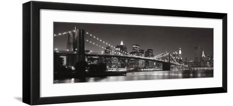 Brooklyn Bridge and Manhattan Skyline-Graeme Purdy-Framed Art Print