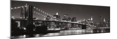 Brooklyn Bridge and Manhattan Skyline-Graeme Purdy-Mounted Art Print