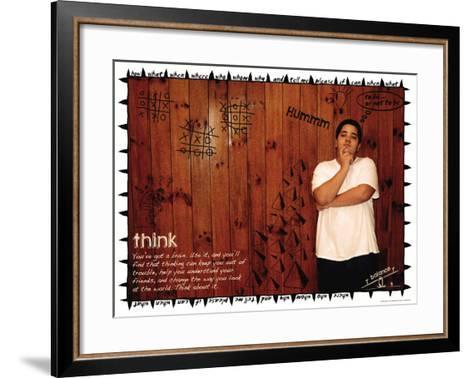 Think-Jeanne Stevenson-Framed Art Print