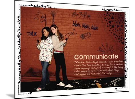 Communicate-Jeanne Stevenson-Mounted Art Print