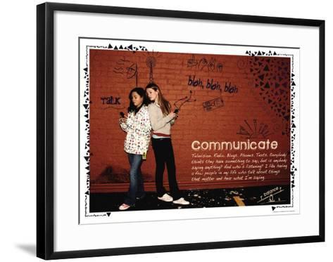 Communicate-Jeanne Stevenson-Framed Art Print