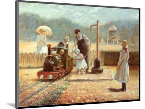 The Model Railway-Rene Legrand-Mounted Art Print