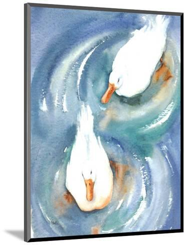 Ducks in a Pond-Paula Patterson-Mounted Art Print