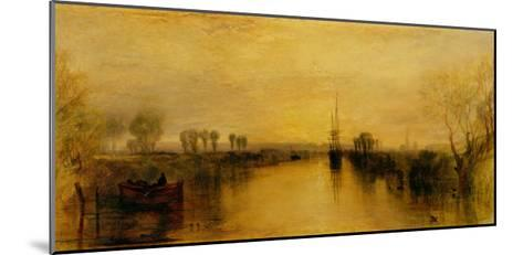 Chichester Canal-J^ M^ W^ Turner-Mounted Art Print
