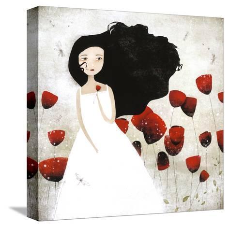 Les Coquelicots-Anne-julie Aubry-Stretched Canvas Print