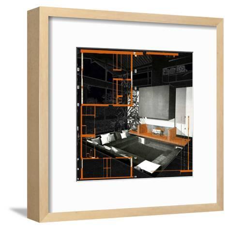 60's Fire Place--Framed Art Print