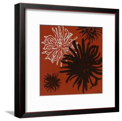 Dalhias II-Olivia-Framed Art Print