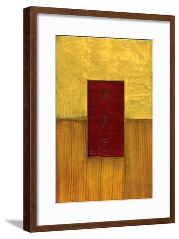 Vertical Abstract II-Anne Courtland-Framed Art Print
