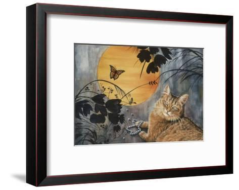 Madame Butterfly-Jeanette Tr?panier-Framed Art Print
