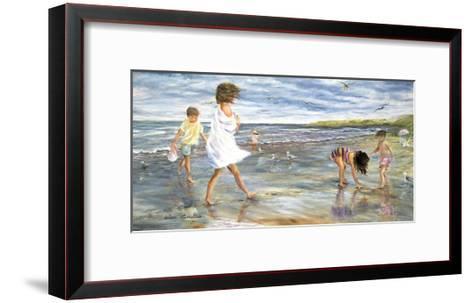 Collecting Seashells-H?l?ne L?veill?e-Framed Art Print