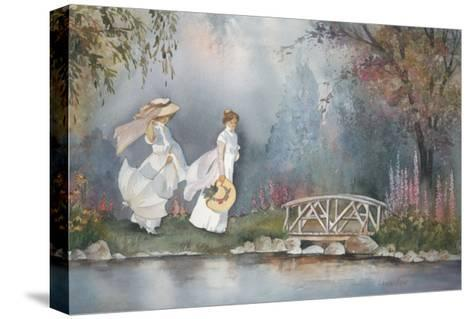 These Ladies with Hats-Armande Langelier-Stretched Canvas Print