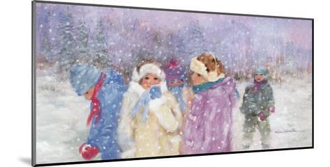 Under the Snow Flakes-H?l?ne L?veill?e-Mounted Art Print