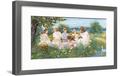 Picnic on the Island-H?l?ne L?veill?e-Framed Art Print