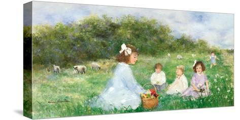 Snack on the Lawn-H?l?ne L?veill?e-Stretched Canvas Print