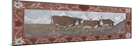 Troupeau de Vaches En Ete-Nathalie Renzacci-Mounted Art Print
