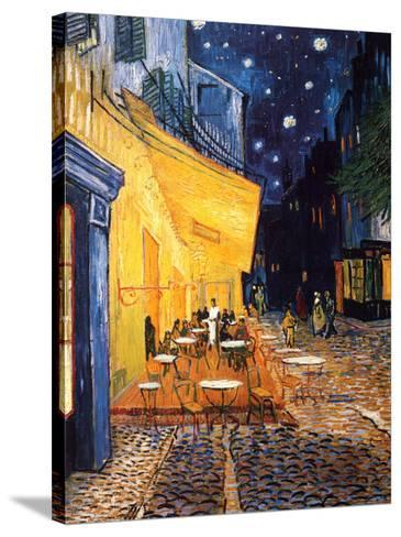 The Caf? Terrace on the Place du Forum, Arles, at Night, c.1888-Vincent van Gogh-Stretched Canvas Print
