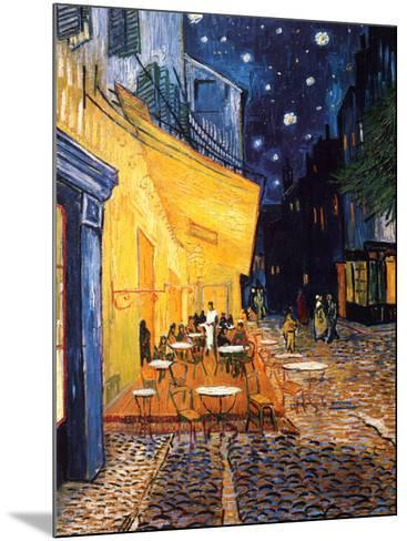The Caf? Terrace on the Place du Forum, Arles, at Night, c.1888-Vincent van Gogh-Mounted Art Print