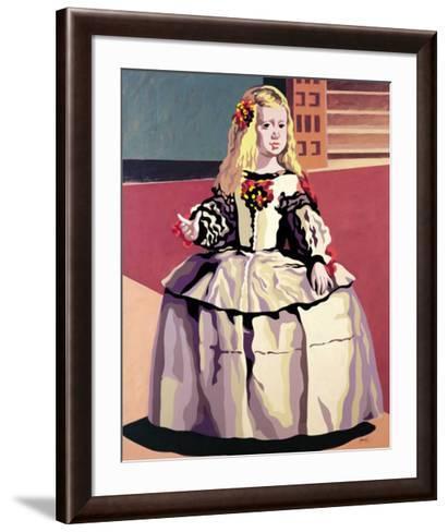 Menina-Porcel-Framed Art Print
