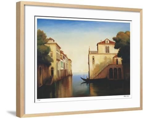 Seaside on the Amalfi Coast-Robert White-Framed Art Print
