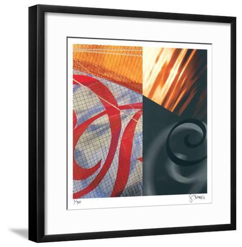 Swans of the Distance-Scott Sandell-Framed Art Print