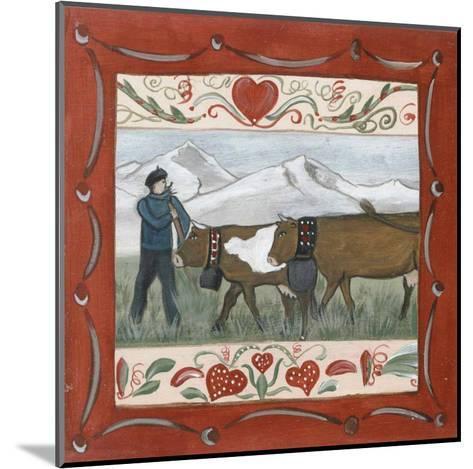 Fermier et Vache-Nathalie Renzacci-Mounted Art Print