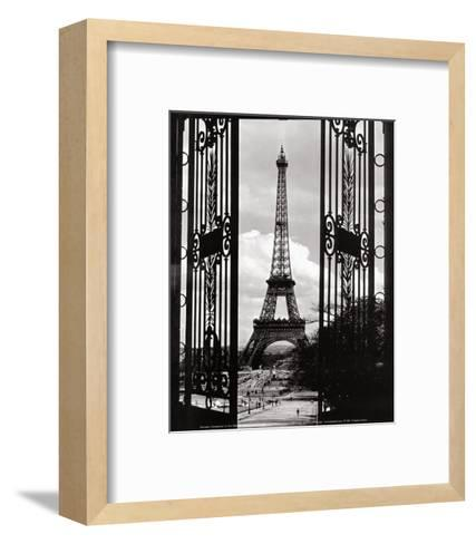 Eiffel Tower through the Gates--Framed Art Print