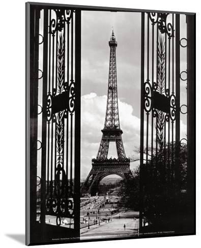 Eiffel Tower through the Gates--Mounted Art Print