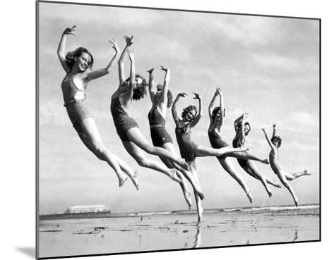 Lillian Newman's Dancers--Mounted Giclee Print