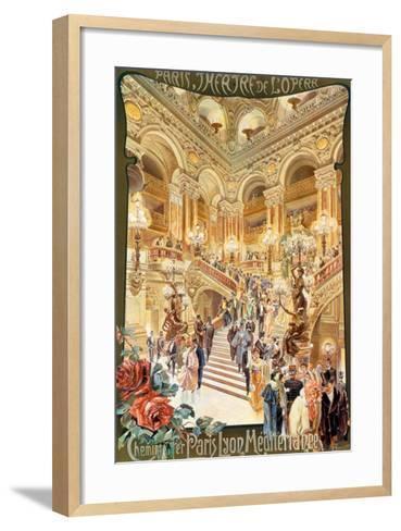 Paris, Theatre de l'Opera--Framed Art Print